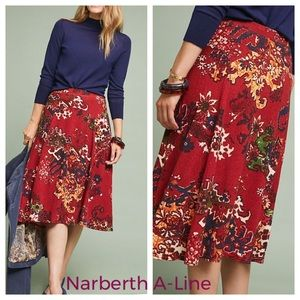 Anthropologie Akemi +Kin Narberth A-Line Skirt NWT